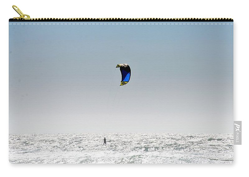 Surfer Carry-all Pouch featuring the photograph Wind by Michael Brown