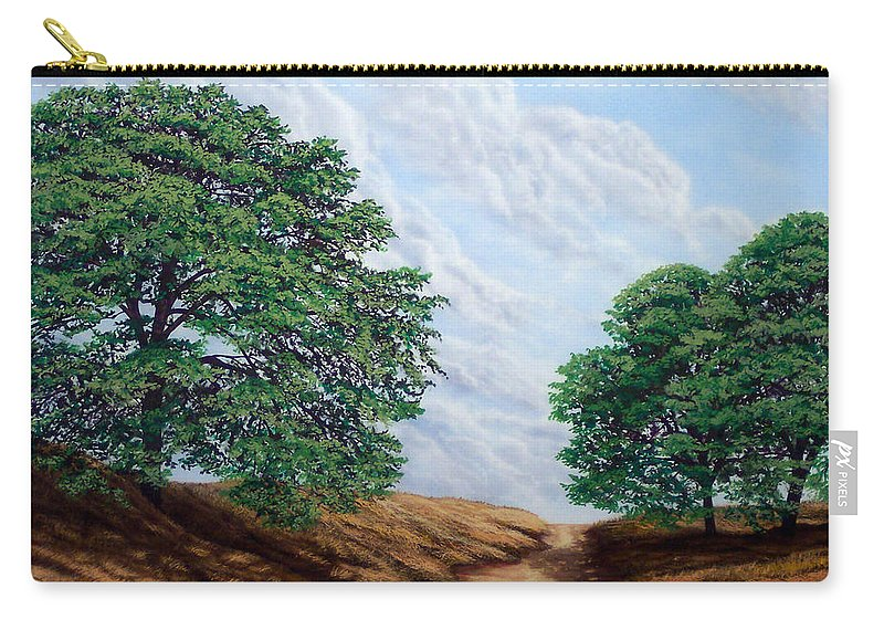 Landscape Carry-all Pouch featuring the painting Windblown Clouds by Frank Wilson
