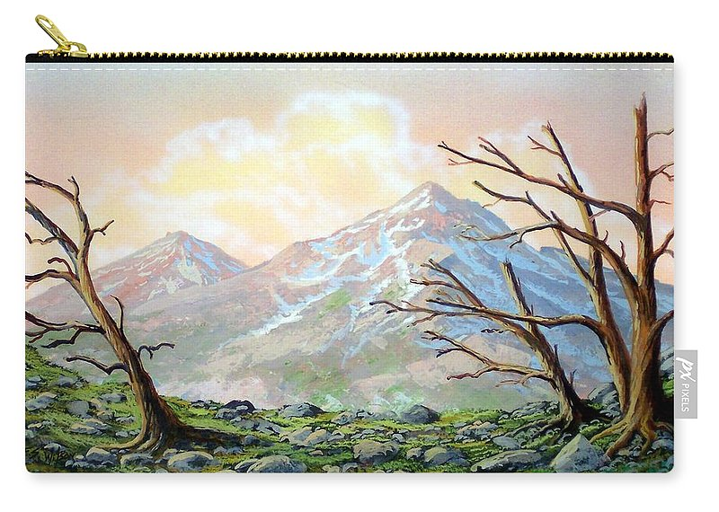 Windblown Carry-all Pouch featuring the painting Windblown by Frank Wilson