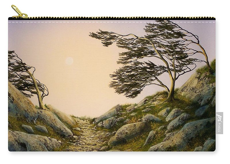 Windblown Warriors Carry-all Pouch featuring the painting Windblown Warriors by Frank Wilson