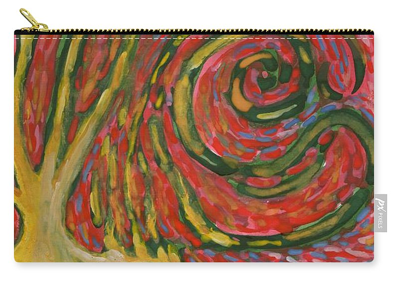 Colour Carry-all Pouch featuring the painting Winding IIi by Wojtek Kowalski