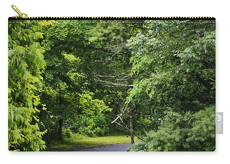 Rain Carry-all Pouch featuring the photograph Winding Road Bluestone State Park West Virginia by Teresa Mucha