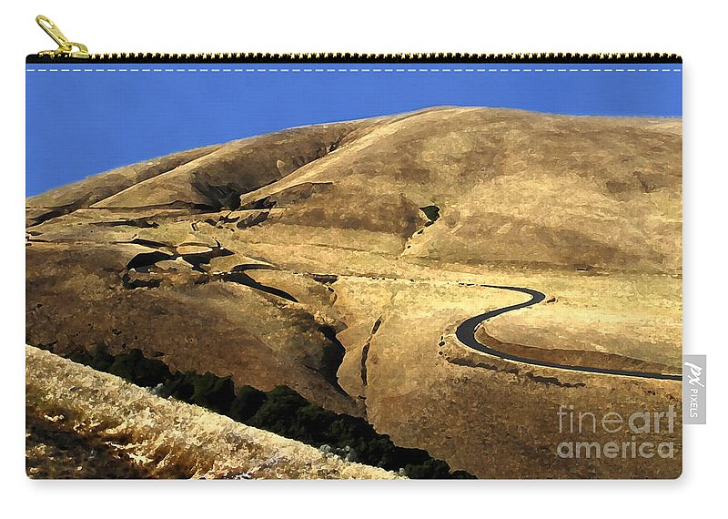 Road Carry-all Pouch featuring the photograph Winding Road by David Lee Thompson
