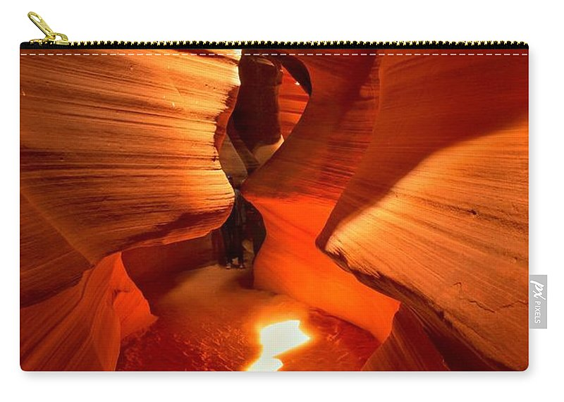 Upper Antelope Canyon Carry-all Pouch featuring the photograph Winding Through Antelope Canyon by Adam Jewell