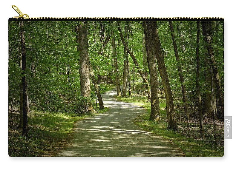 Nature Carry-all Pouch featuring the photograph Winding Trails At Bur Mil Park by Matt Taylor