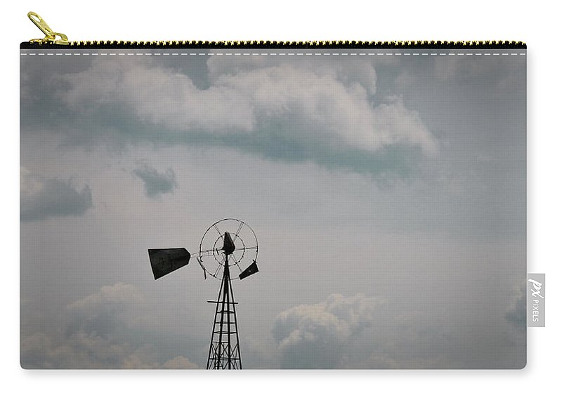 Windmill Carry-all Pouch featuring the photograph Windmill Less Blades by David Arment