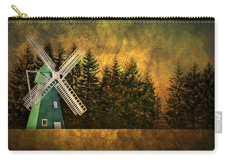 Brimfield Carry-all Pouch featuring the photograph Windmill On My Mind by Evelina Kremsdorf