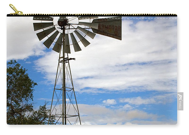 Windmill Carry-all Pouch featuring the photograph Windmill by Randall Ingalls