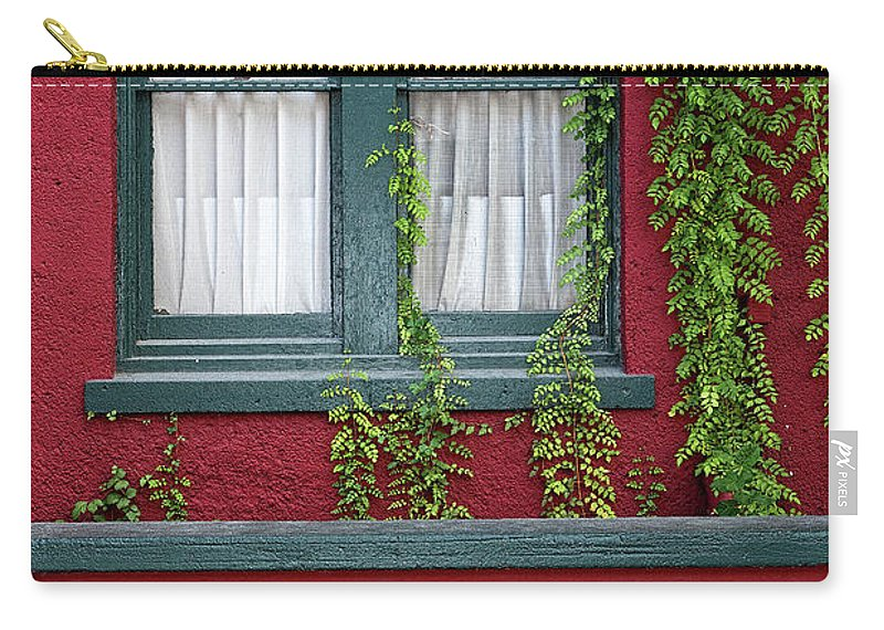 Window Carry-all Pouch featuring the photograph Window And Vines by Christopher Holmes
