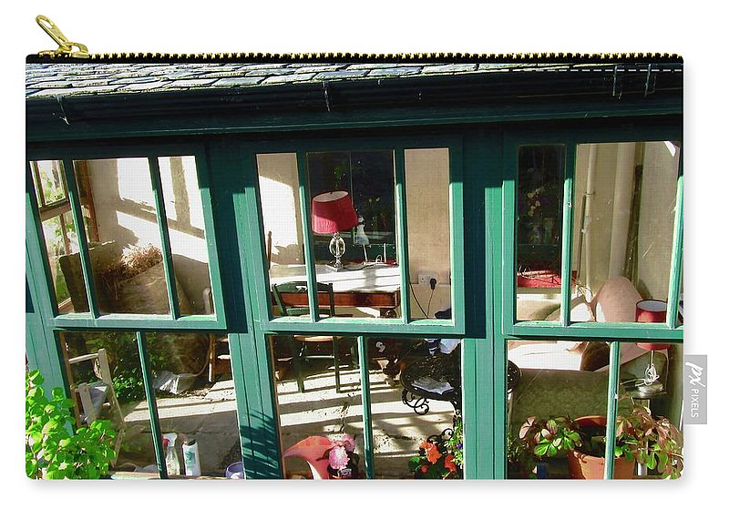 Window Carry-all Pouch featuring the photograph Window At Corcreggan's Mill by Stephanie Moore