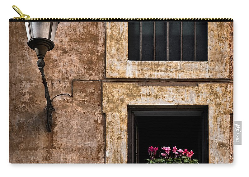 Window Box Carry-all Pouch featuring the photograph Window Box by Dave Bowman