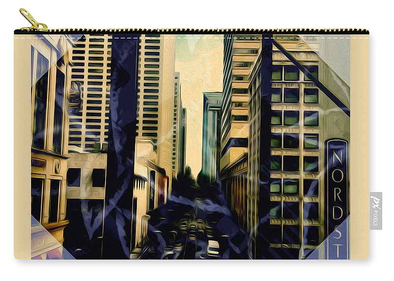 Art Carry-all Pouch featuring the photograph Overlook Avenue by Ryan Fox