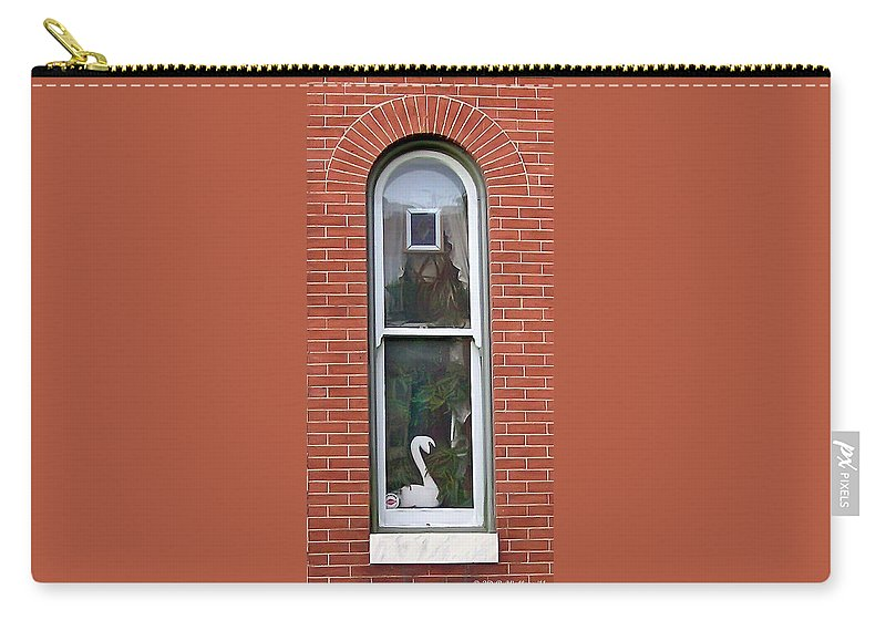 2d Carry-all Pouch featuring the photograph Window Dressing by Brian Wallace