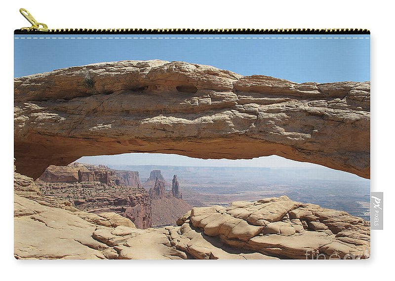 Arches Carry-all Pouch featuring the photograph Window In The Sky by Marc Stuelken