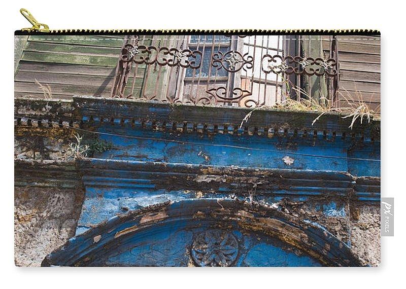 Quezaltenango Carry-all Pouch featuring the photograph Window On Side Street Quezaltenango Guatemala by Douglas Barnett