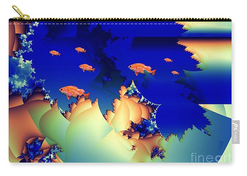 Undersea Carry-all Pouch featuring the digital art Window On The Undersea by Ron Bissett