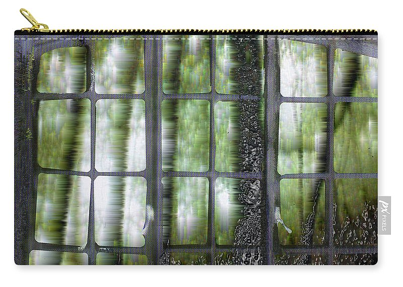 Window On The Woods Carry-all Pouch featuring the digital art Window On The Woods by Seth Weaver