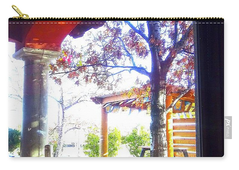 Window Carry-all Pouch featuring the digital art Window On The World by Karen Francis