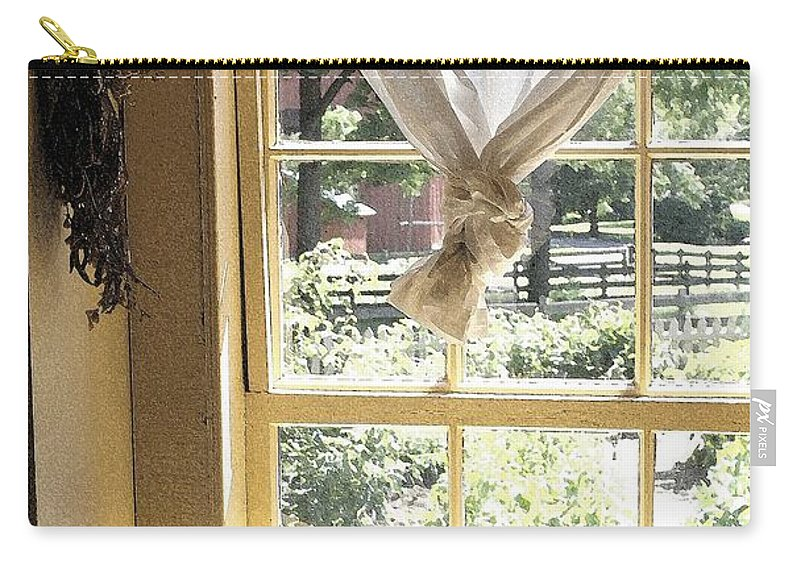 Window Carry-all Pouch featuring the photograph Window On Yesterday by Nelson Strong