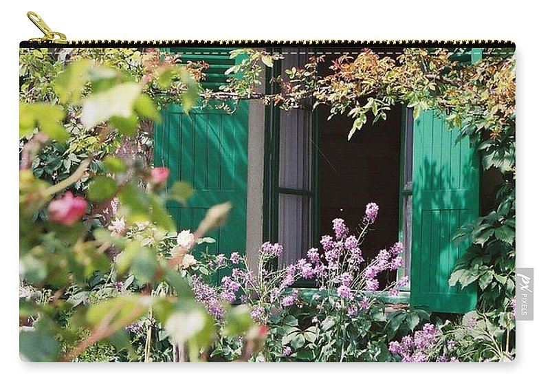 Charming Carry-all Pouch featuring the photograph Window to Monet by Nadine Rippelmeyer