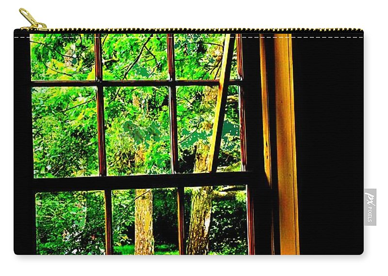 Window Carry-all Pouch featuring the photograph Window To My World by Ian MacDonald