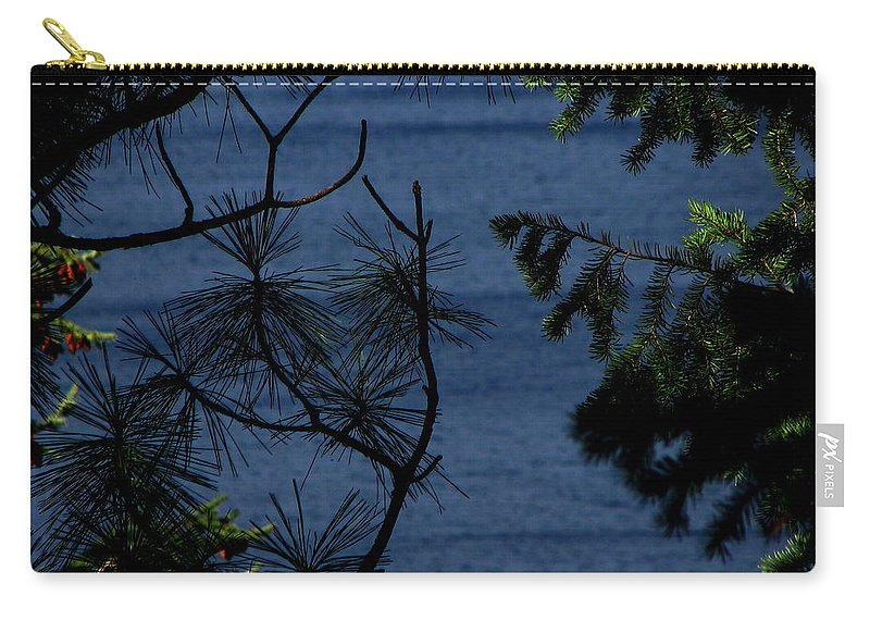 Patzer Carry-all Pouch featuring the photograph Window To The River by Greg Patzer