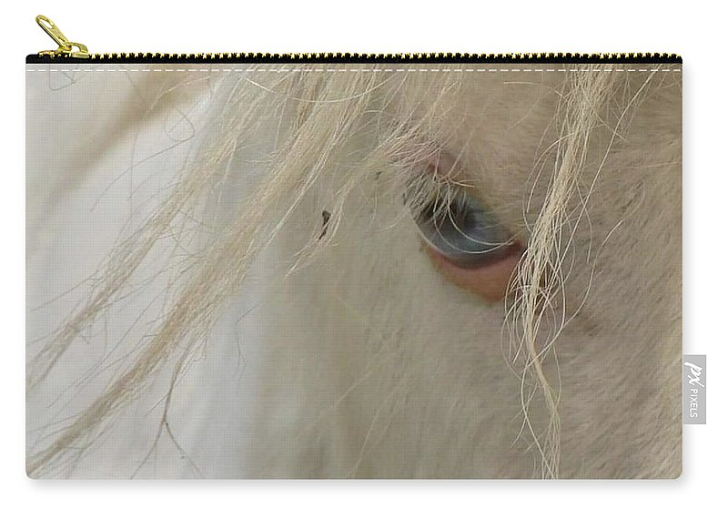Horse. Eyes Carry-all Pouch featuring the photograph Window To The Soul by Melissa Haney