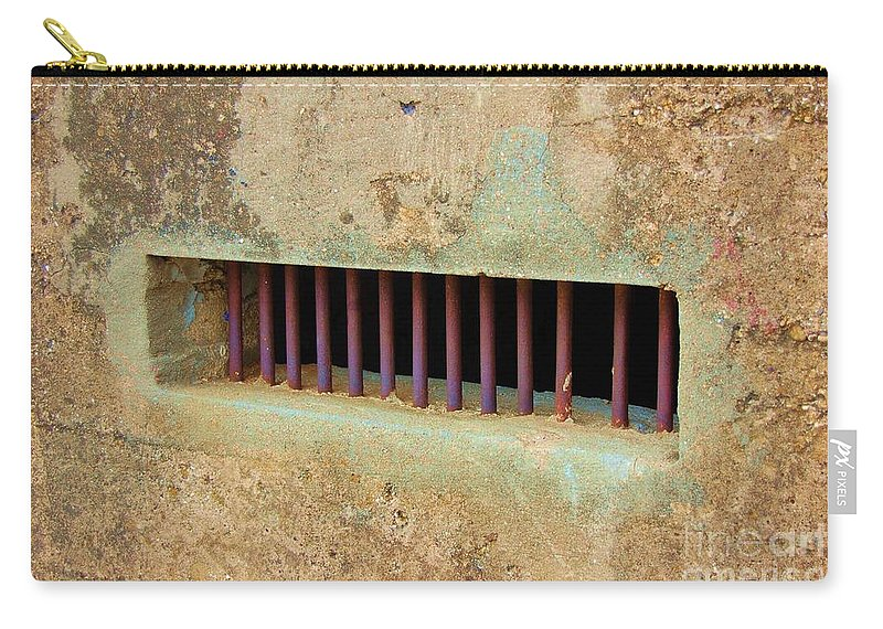 Jail Carry-all Pouch featuring the photograph Window To The World by Debbi Granruth