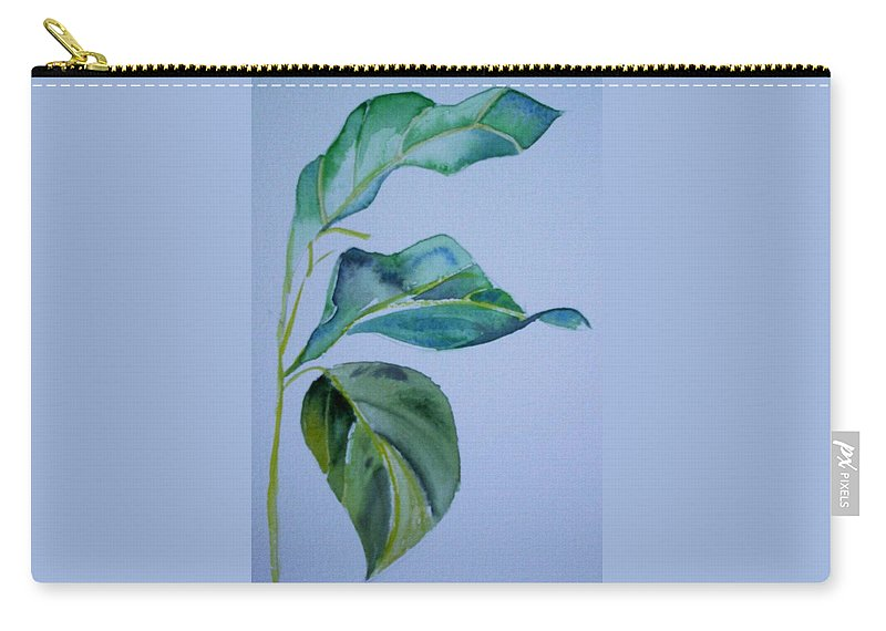Nature Carry-all Pouch featuring the painting Window View by Suzanne Udell Levinger