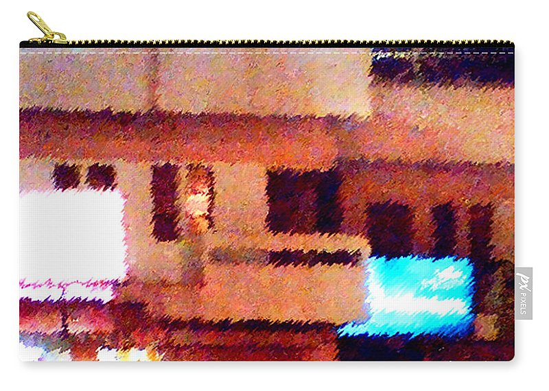 Digital Art Carry-all Pouch featuring the painting Windows by Anil Nene