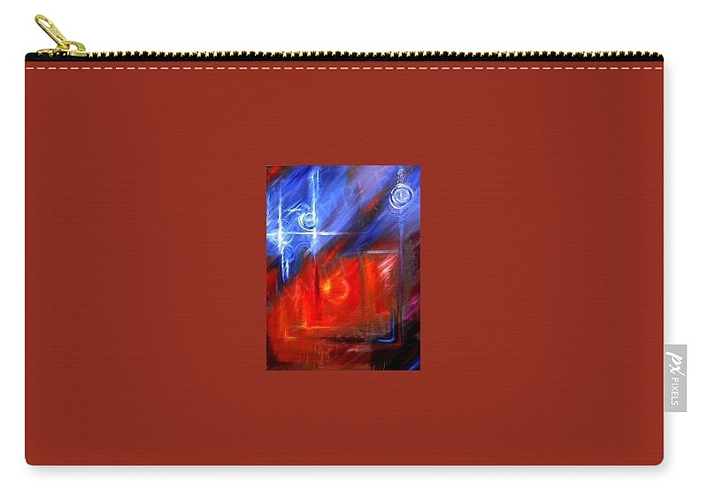 Abstracts Carry-all Pouch featuring the painting Windows by James Christopher Hill