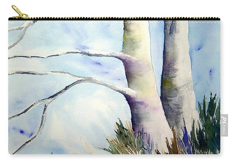 Provence France Mistrals Carry-all Pouch featuring the painting Winds Of Provence by Joanne Smoley