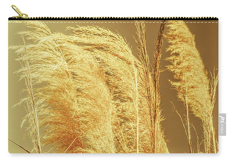 Dry Carry-all Pouch featuring the photograph Windswept Autumn Brush Grass by Jorgo Photography - Wall Art Gallery
