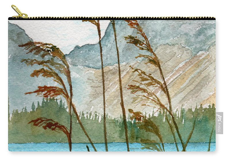 Landscape Carry-all Pouch featuring the painting Windswept by Brenda Owen