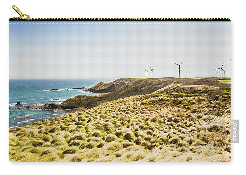 Ocean Carry-all Pouch featuring the photograph Windy Meadows by Jorgo Photography - Wall Art Gallery