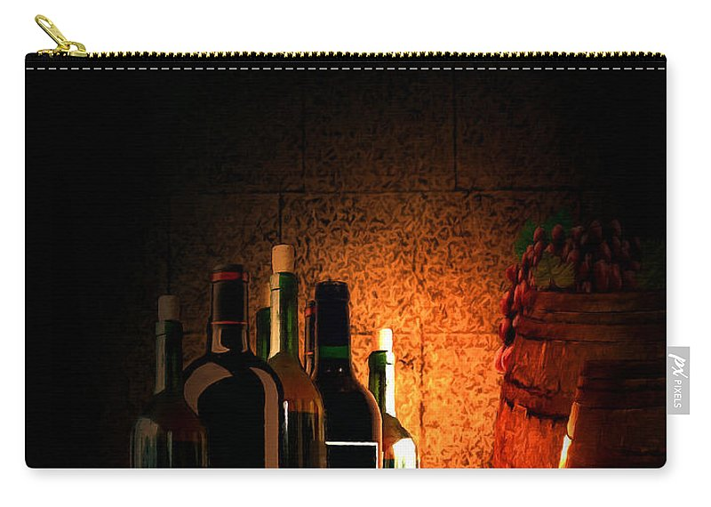 Wine Carry-all Pouch featuring the painting Wine And Leisure by Lourry Legarde