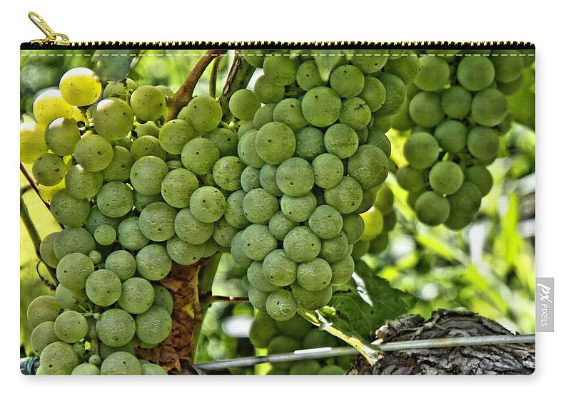 Square Carry-all Pouch featuring the photograph Wine Grapes by DJ Florek