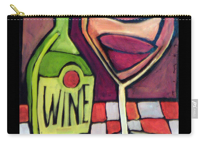 Wine Carry-all Pouch featuring the painting Wine Squared by Tim Nyberg