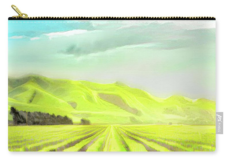 Wine Carry-all Pouch featuring the digital art Winery by ArtMarket Japan