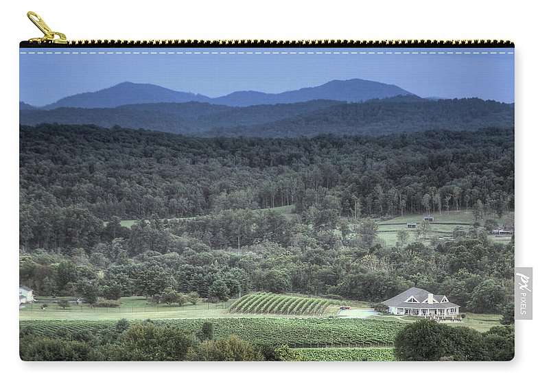 Shennandoah Carry-all Pouch featuring the photograph Winery by MotionOne Studios