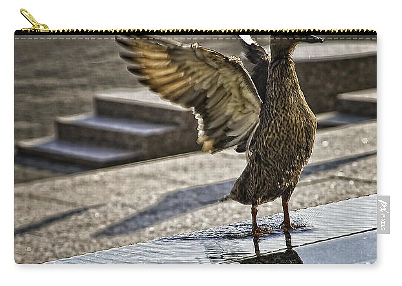 Bird Carry-all Pouch featuring the photograph Winged Bird by Madeline Ellis