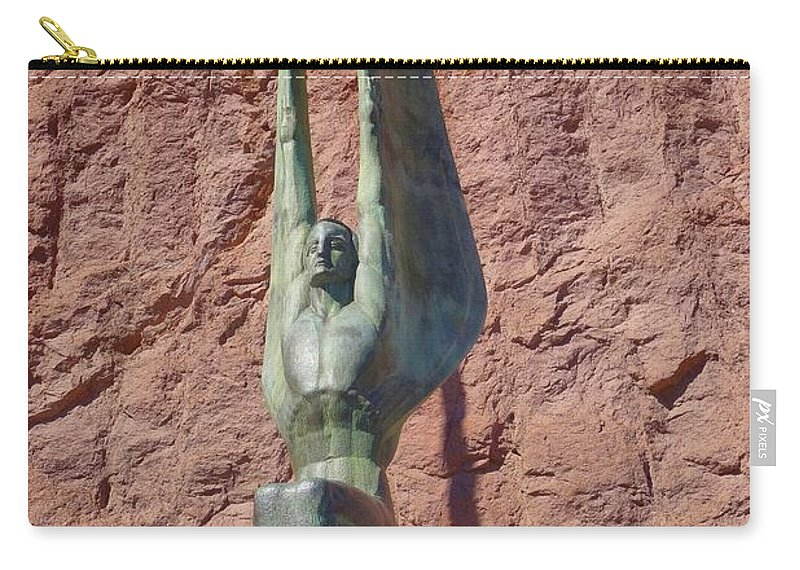 Winged Figures Carry-all Pouch featuring the photograph Winged Figures Of The Republic by Janette Boyd