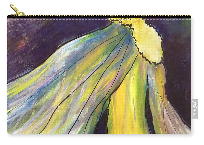 Goddess Carry-all Pouch featuring the painting Winged Goddess Update by Patricia Taylor