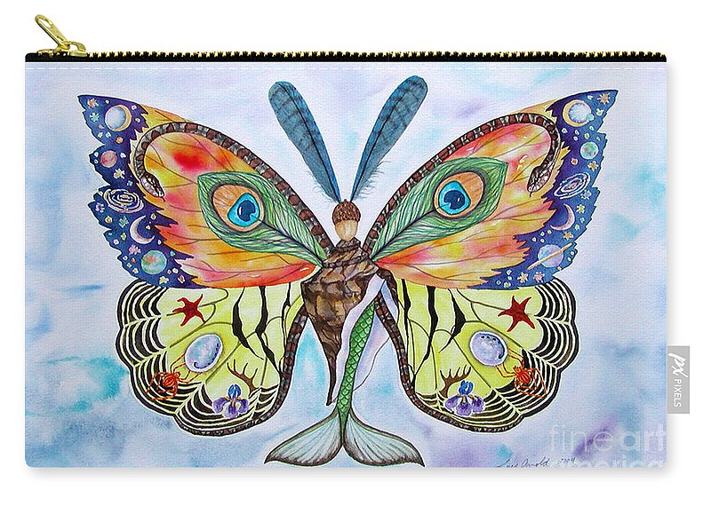 Butterfly Carry-all Pouch featuring the painting Winged Metamorphosis by Lucy Arnold