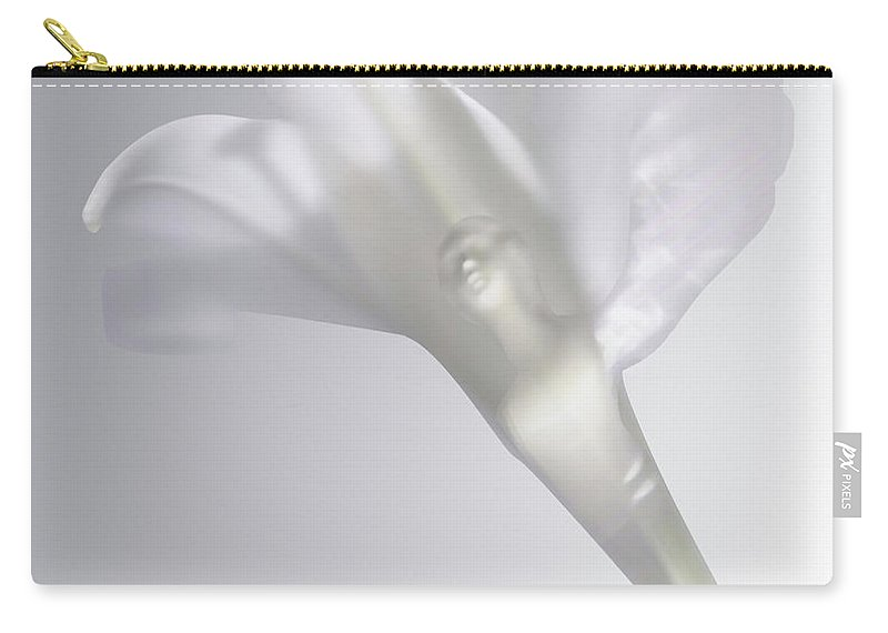 Carry-all Pouch featuring the photograph Winged Woman In White Lily by Heather Kirk