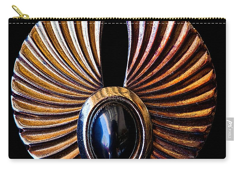Earrings Carry-all Pouch featuring the photograph Wings by Christopher Holmes