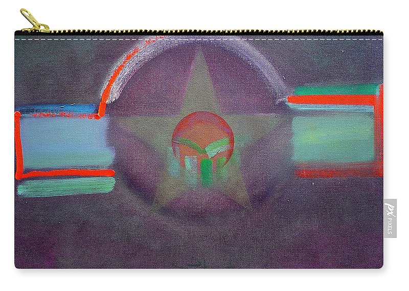 Star Carry-all Pouch featuring the painting Wings Vermillion  by Charles Stuart