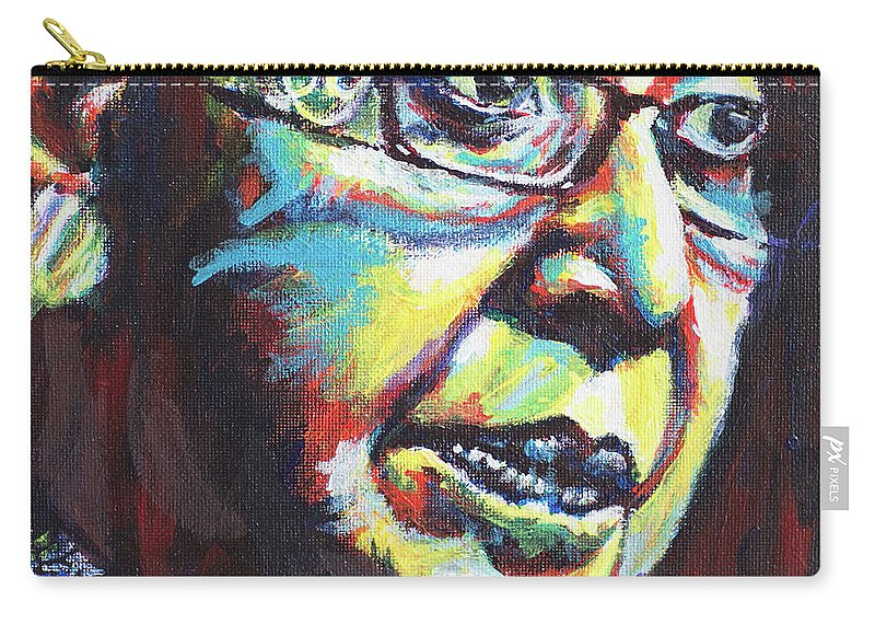 Portrait Carry-all Pouch featuring the painting Winnie by Larry Ger