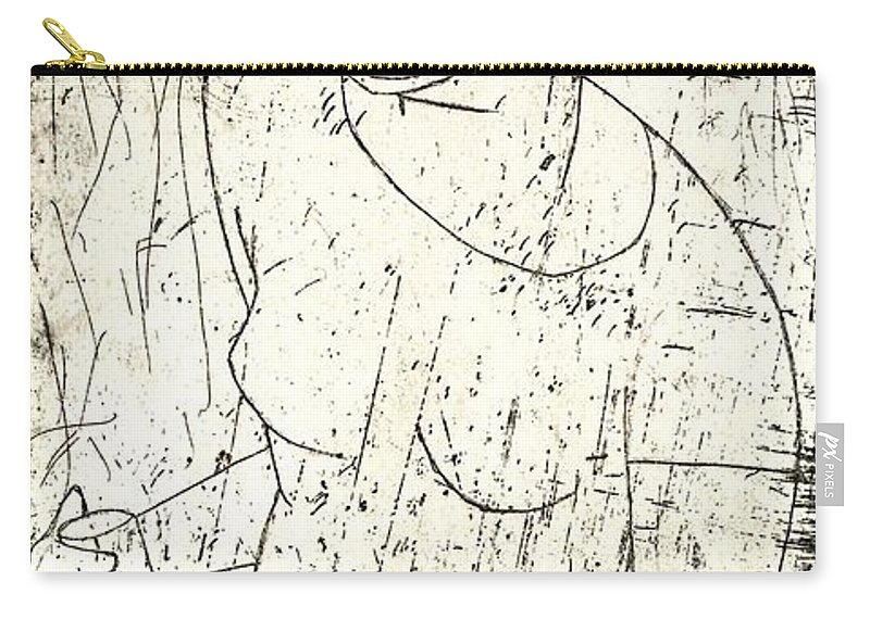 Clay Carry-all Pouch featuring the painting Wino by Thomas Valentine
