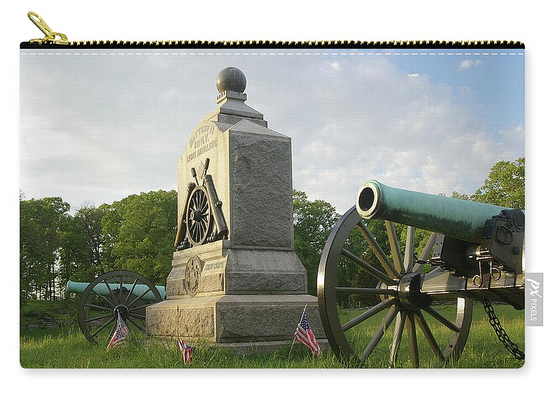 Gettysburg Carry-all Pouch featuring the photograph Winslow's Battery by Jen Goellnitz